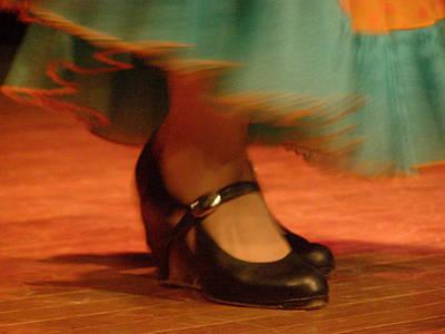 Flamenco Feet Poster