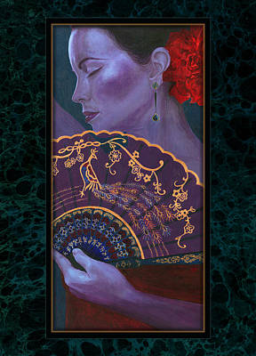 Poster featuring the painting Flamenco  by Ragen Mendenhall