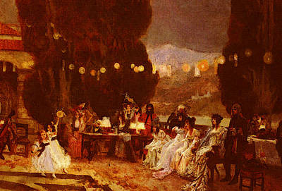 Flameng Francois An Evening S Entertainment For Josephine Poster