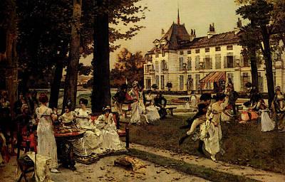 Flameng Francois Reception At Malmaison In  Poster