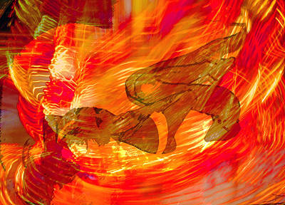 Poster featuring the digital art Flames Of Passion,  by David Lee Thompson