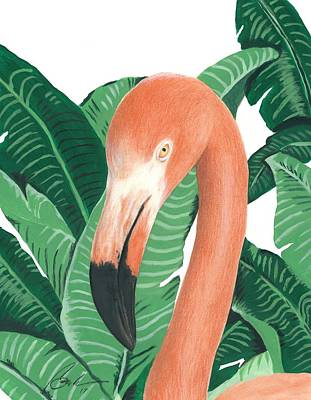 Flamingo Poster by Bruce Lennon