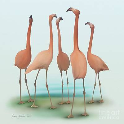 Flamingo Mingle Poster