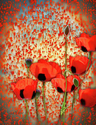 Poster featuring the painting Flanders Fields by Valerie Anne Kelly