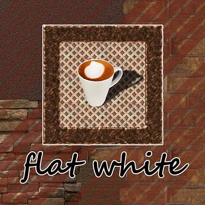 Flat White - Coffee Art Poster