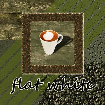 Flat White - Coffee Art - Green Poster