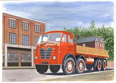 Flatbed Foden Poster