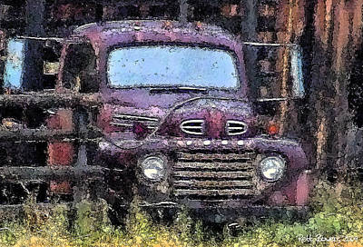 Flatbed Ford Poster by Everett Bowers