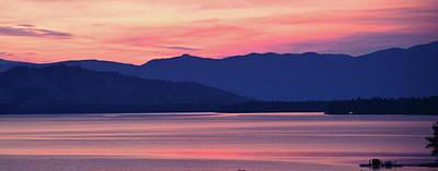 Flathead Lake At Sunrise Poster