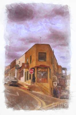 Flatiron Building Of Jerome Arizona Poster by Priscilla Burgers