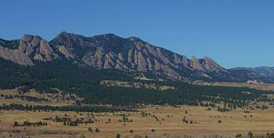 Poster featuring the photograph Flatirons Of Boulder by Christopher Kirby