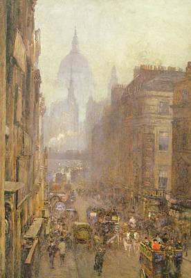 Fleet Street Poster by Rose Maynard Barton