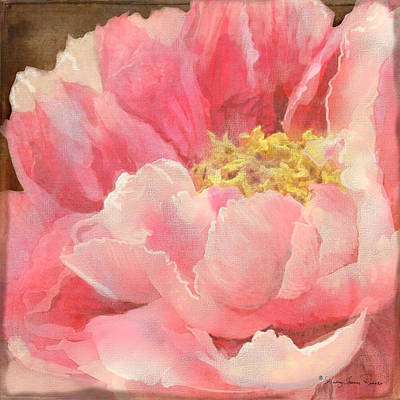 Fleeting Glory - Peony Poster by Audrey Jeanne Roberts
