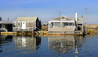 Fletchers Camp And The Little House Sandy Neck Poster