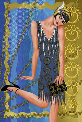 Fleur De Bleue Poster by Troy Brown