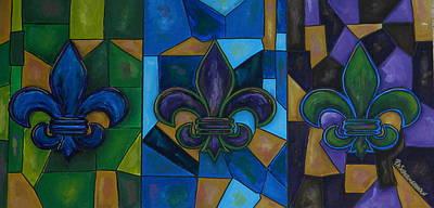 Fleur De Lis Trinity Poster by Patti Schermerhorn