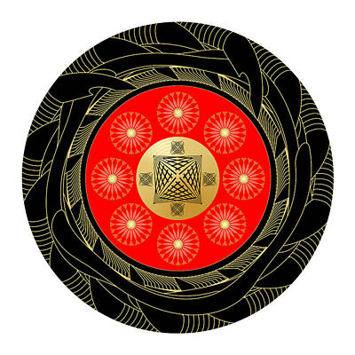 Poster featuring the digital art Fleuron Composition No. 44 by Alan Bennington