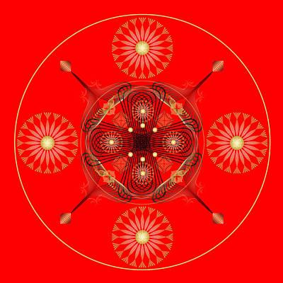 Poster featuring the digital art Fleuron Composition No. 58 by Alan Bennington