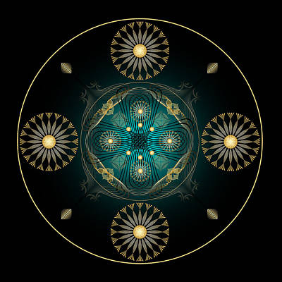 Poster featuring the digital art Fleuron Composition No. 59 by Alan Bennington
