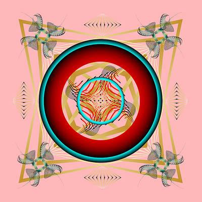 Poster featuring the digital art Fleuron Composition No. 67 by Alan Bennington