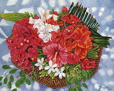 Fleurs De Passion Poster by Danielle  Perry