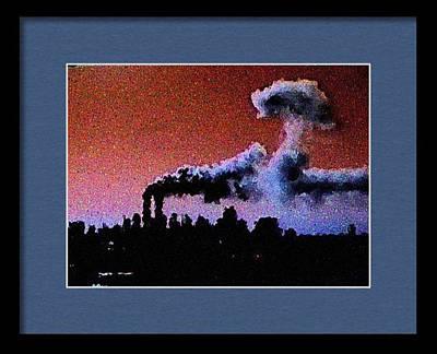 Flight 175 Mushroom Cloud Framed Example Poster by James Kosior