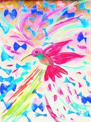 Flight Of The Hummingbird - Abstract Poster