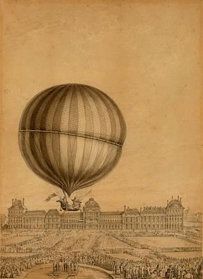 Flight Over Paris Poster