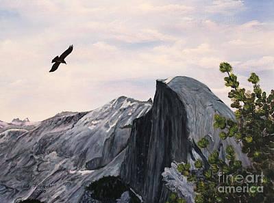 Flight Over Yosemite Poster by Judy Filarecki