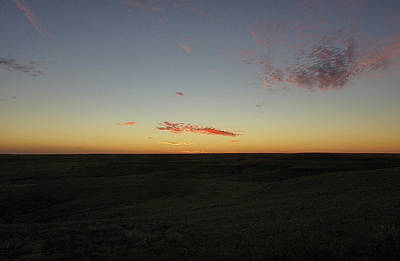 Poster featuring the photograph Flint Hills Dusk by Thomas Bomstad
