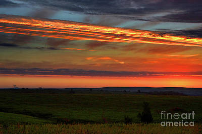 Poster featuring the photograph Flint Hills Sunrise by Thomas Bomstad