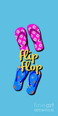 Flip Flop Cell Design Poster by Edward Fielding