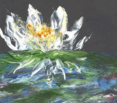 Floating Lotus Flower Poster