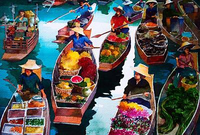 Floating Market Poster