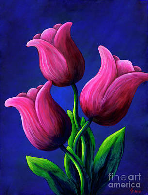 Floating Tulips Poster