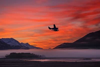 Floatplane Takes Off From Juneau Poster by John Hyde