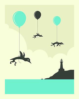Flock Of Penguins - 1 Poster