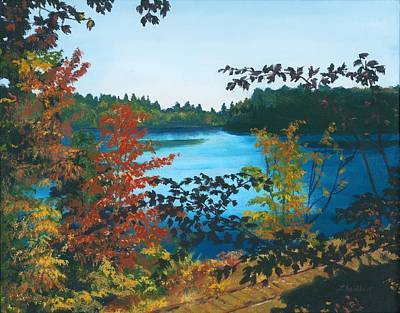 Poster featuring the painting Floodwood by Lynne Reichhart