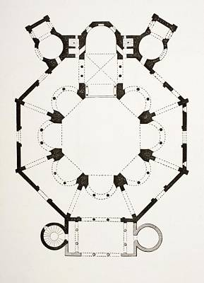 Floor Plan Of The 6th Century Byzantine Poster