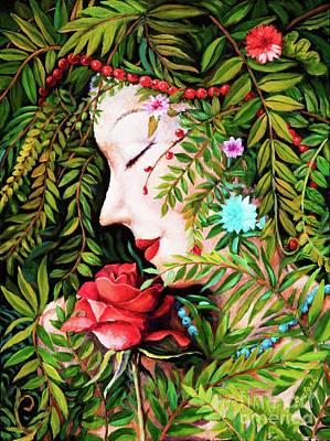 Poster featuring the painting Flora-da-vita by Igor Postash