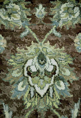 Floral Abstract Brown Tones Poster by Sandi OReilly