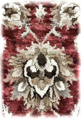 Floral Abstract Reds Brown Tones Poster by Sandi OReilly