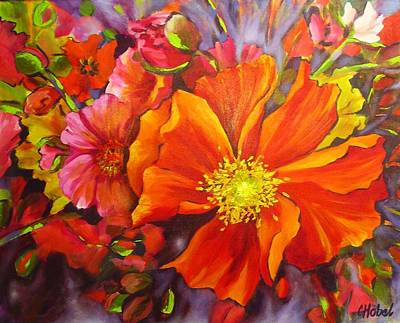 Poster featuring the painting Floral Abundance by Chris Hobel