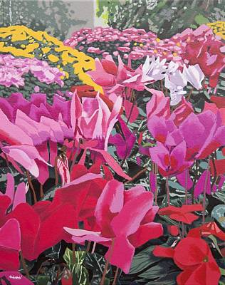 Floral Bloom Poster by Malcolm Warrilow