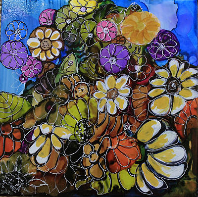 Floral Boquet Poster by Suzanne Canner