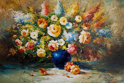 Floral Bouquet Poster by Aydin Kalantarov