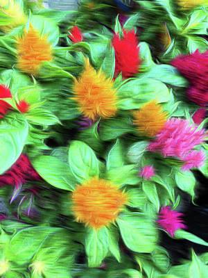 Floral Digital Pattern Poster by Tom Gowanlock