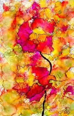 Floral Duet Poster by Angela L Walker