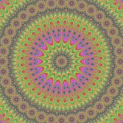 Floral Ornament Mandala Poster