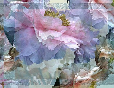 Floral Potpourri With Peonies 24 Poster by Lynda Lehmann
